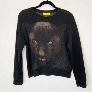 St. John RARE Jaguar Black Sweater Medium